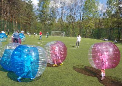 Zabawa w Bubble Football podczas eventu w Łodzi