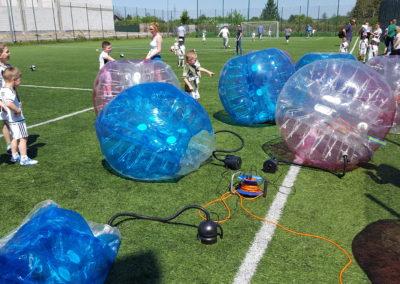 wynajem bubble football w łodzi - piłka nożna w dmuchanych kulach