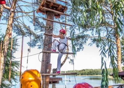 atrakcje dla dzieci mazury - park linowy